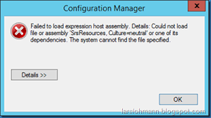 MINDCORE BLOG: Failed to load expression host assembly. Details ...